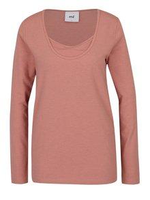 Růžové těhotenské tričko Mama.licious Emmely