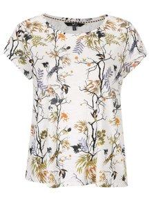Krémové tričko s motivem přírody Ulla Popken