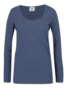 Tmavě modré žíhané těhotenské tričko Mama.licious Emmely