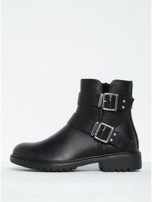 Černé kotníkové boty s přezkami ONLY Blix Buckle