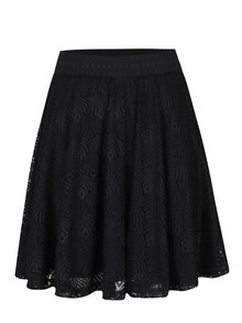 Černá krajková kolová sukně VERO MODA Majse