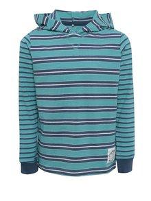 Tyrkysové chlapčenské tričko s kapucňou name it Kunnar