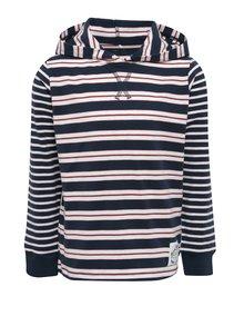 Krémovo-modré chlapčenské tričko s kapucňou name it Kunnar