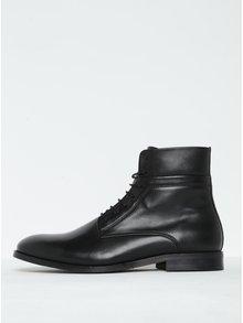 Čierne pánske kožené členkové topánky Royal RepubliQ