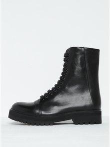Čierne dámske kožené členkové topánky Royal RepubliQ