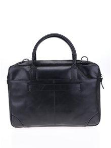 Čierna pánska kožená taška na notebook Royal RepubliQ
