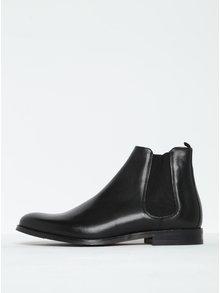 Čierne pánske kožené chelsea topánky Royal RepubliQ