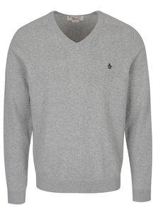 Šedý svetr s véčkovým výstřihem Original Penguin Chester