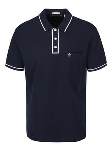 Tricou polo bleumarin cu buzunar Original Penguin The Earl