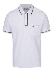 Biele slim fit polo tričko s náprsným vreckom Original Penguin The Earl