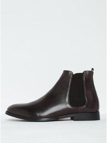 Tmavohnedé pánske kožené chelsea topánky Royal RepubliQ