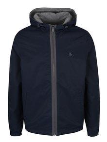 Jachetă reversibilă bleumarin&gri din material impermeabil Original Penguin Reversible