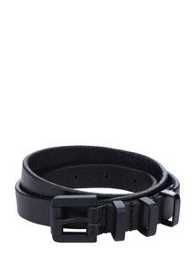 Čierny dámsky tenký kožený opasok Royal RepubliQ