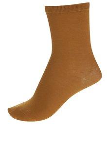 Hnedé ponožky Selected Femme Bobby