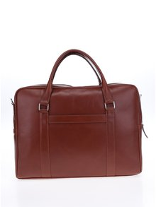 Hnedá dámska kožená taška na notebook Royal RepubliQ