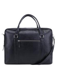 Čierna dámska kožená taška na notebook Royal RepubliQ