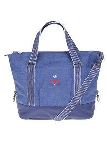 Modrá kabelka s výšivkou Blutsgeschwister