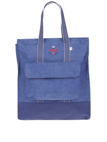 Modrý batoh/kabelka s výšivkou loga Blutsgeschwister