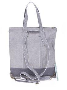 Svetlosivý batoh/kabelka s výšivkou loga Blutsgeschwister