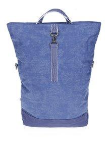 Modrá veľká kabelka s odnímateľným popruhom Blutsgeschwister