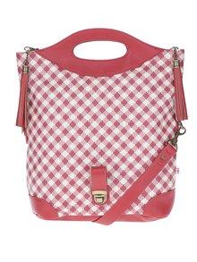 Červená kockovaná kabelka Blutsgeschwister