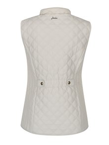 Krémová dámská prošívaná vesta s kapsami Tom Joule