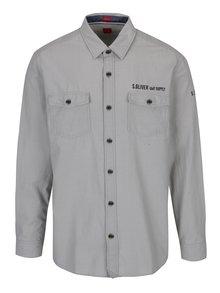 Svetlosivá pánska košeľa s.Oliver