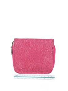 Růžová peněženka s vyšitým logem Blutsgeschwister