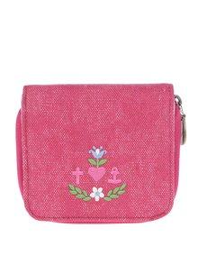 Červená peňaženka s vyšitým logom Blutsgeschwister