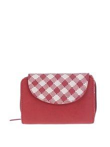 Červená kostkovaná peněženka Blutsgeschwister
