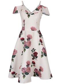Krémové kvetinové šaty Chi Chi London