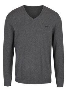 Sivý pánsky sveter s véčkovým výstrihom s.Oliver