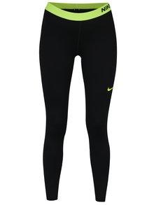 Zeleno-čierne dámske funkčné legíny Nike