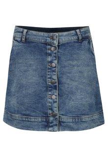 Modrá rifľová mini sukňa s gombíkmi s.Oliver