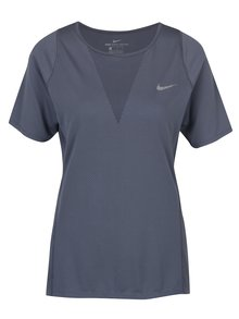 Sivomodré dámske funkčné tričko Nike Zonal Cooling Relay