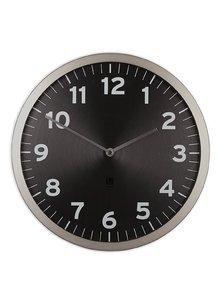 Černé nástěnné hodiny Umbra Anytime