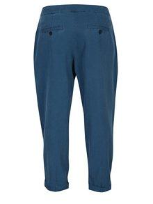 Pantaloni chino albastru petrol cu talie înaltă s.Oliver