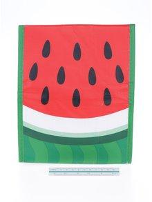 Zeleno-červené desiatové vrecúško s motívom melóna Mustard
