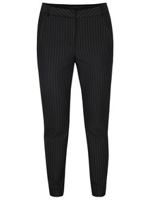 Čierne pruhované nohavice VERO MODA Victoria