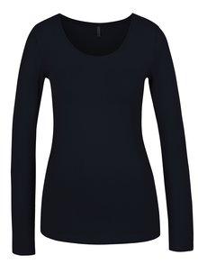 Tmavě modré basic tričko s dlouhým rukávem ONLY Live