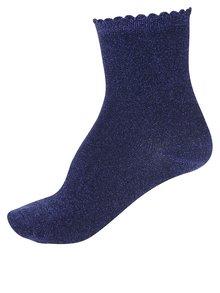 Tmavě modré třpytivé ponožky Pieces Sebby