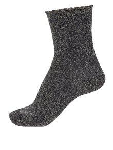 Čierne trblietavé ponožky Pieces Sebby