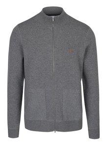 Sivý sveter na zips s prímesou vlny Farah Fermoy