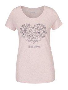 Světle růžové dámské žíhané tričko ZOOT Originál Science