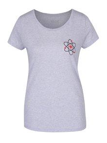 Světle modré dámské žíhané tričko ZOOT Originál Atom