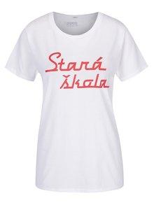Bílé unisex tričko ZOOT Originál Stará škola