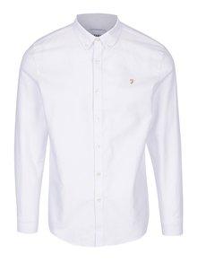 Biela slim fit košeľa Farah Brewer