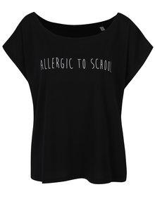 Čierne dámske oversize tričko ZOOT Originál Allergic to school