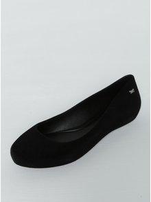 Černé semišové baleríny Zaxy Pop Flocked