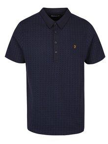 Modro-černé vzorované polo tričko Farah Chelsea